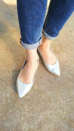 シルバーの靴