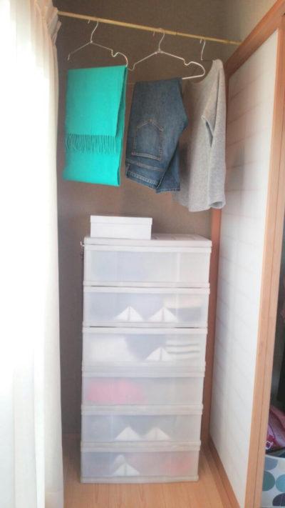 一日着た服の収納法